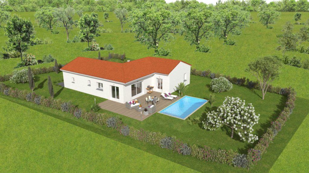 Projet construction maison à Vernosc-lès-Annonay de 105m2